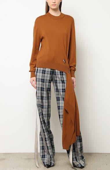 Drape Pin Hem Wool Sweater, video thumbnail