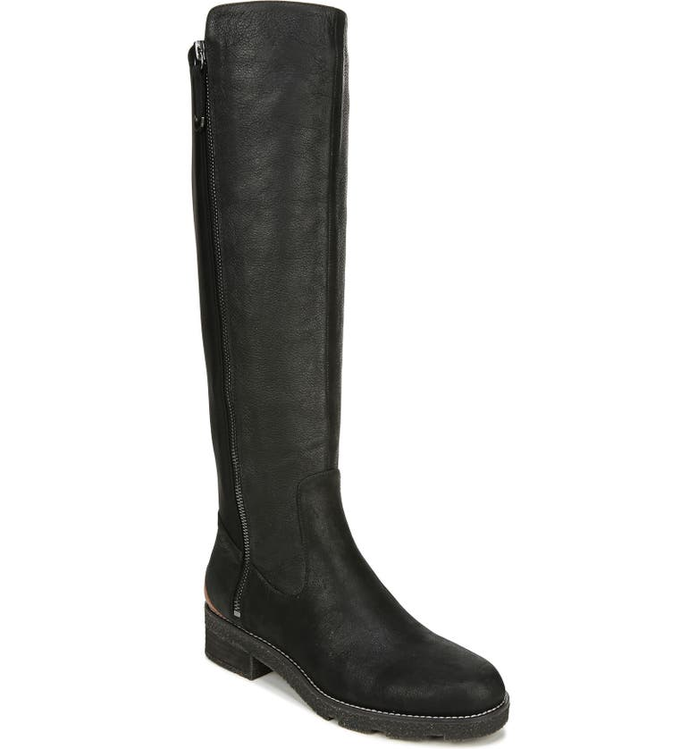 DR. SCHOLL'S Tinslee Knee High Boot, Main, color, BLACK LEATHER