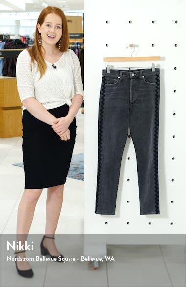 Olivia High Waist Wavy Side Stripe Slim Jeans, sales video thumbnail