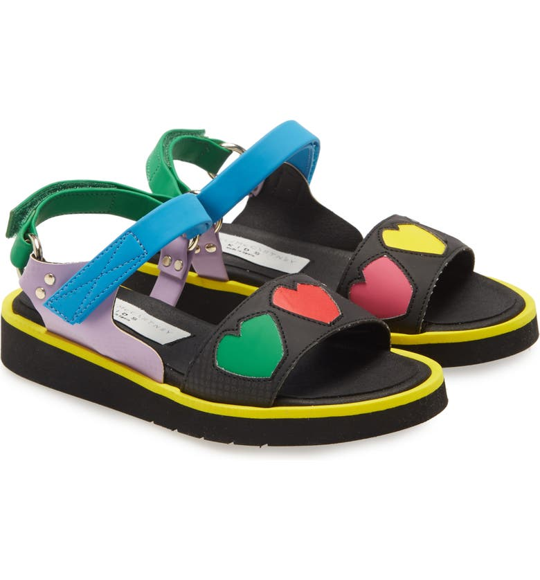 STELLA MCCARTNEY KIDS Hearts Sandal, Main, color, MULTI