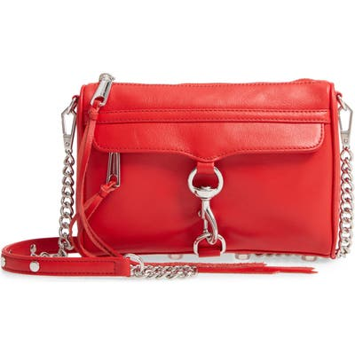 Rebecca Minkoff Mini MAC Convertible Crossbody Bag - Red