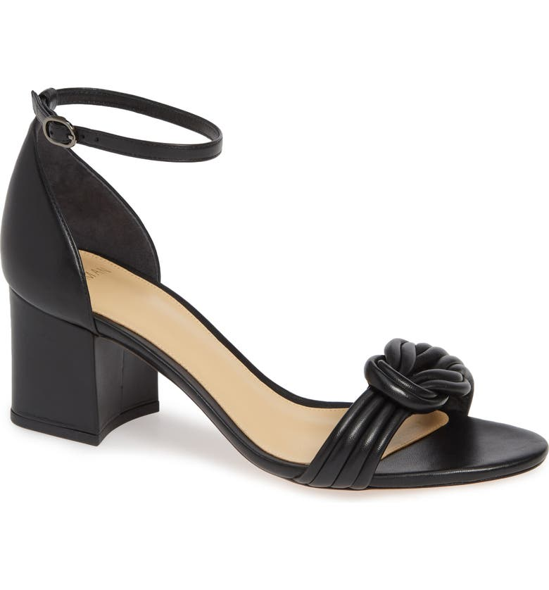 ALEXANDRE BIRMAN Vicky Block Heel Sandal, Main, color, BLACK LEATHER
