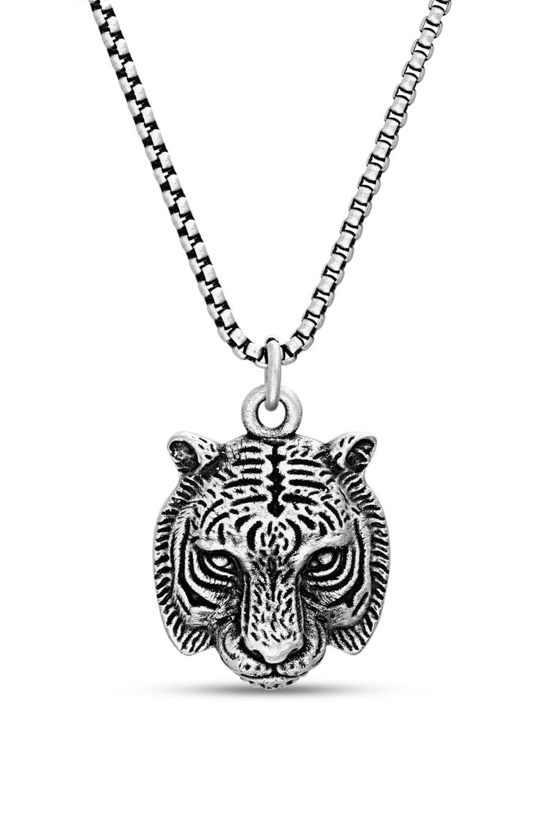 Tiger Head Pendant Necklace by Steve Madden