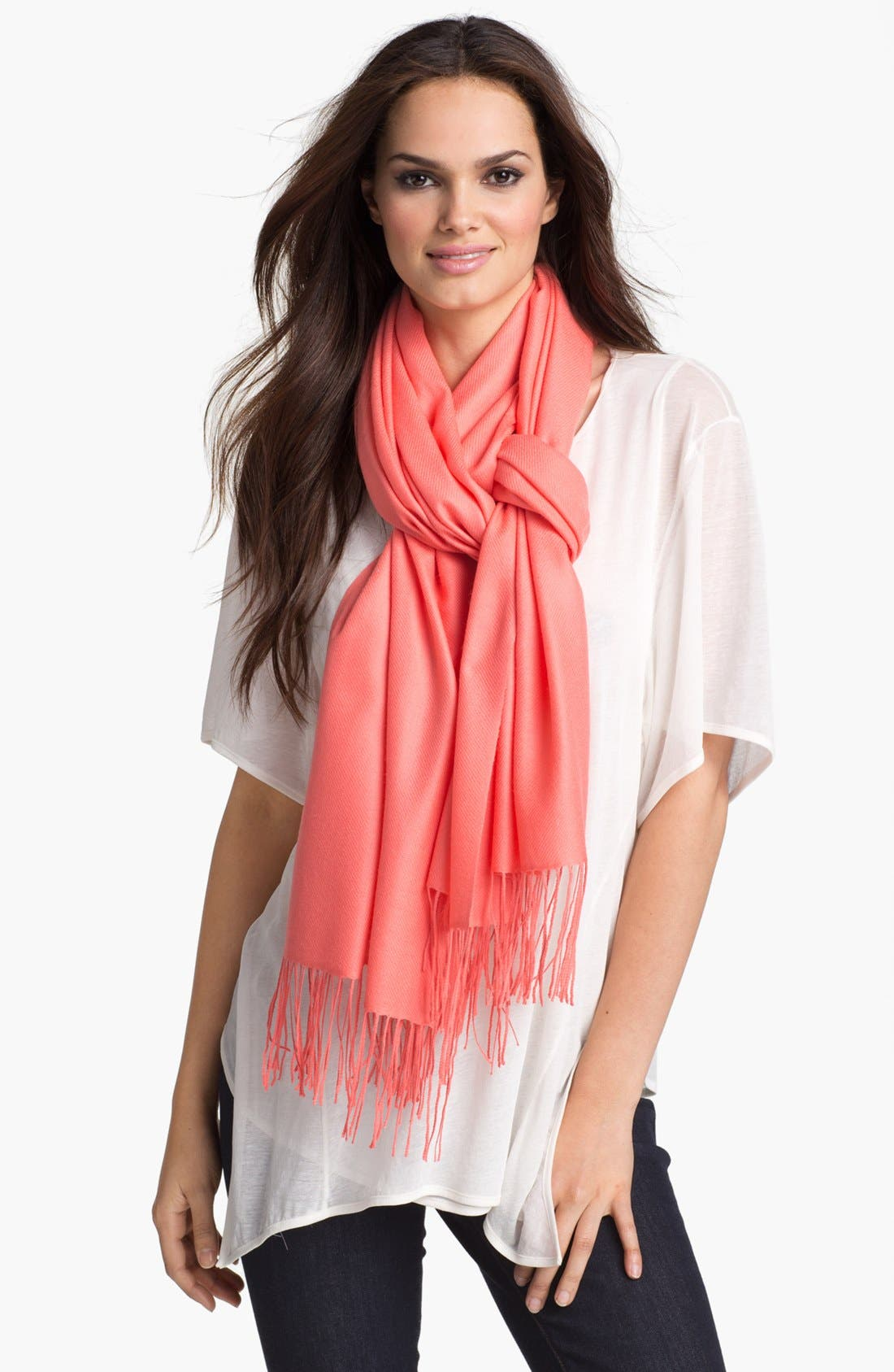 ,                             Tissue Weight Wool & Cashmere Wrap,                             Main thumbnail 169, color,                             642