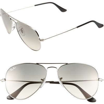 Ray-Ban Small Original 55Mm Aviator Sunglasses - Smoke