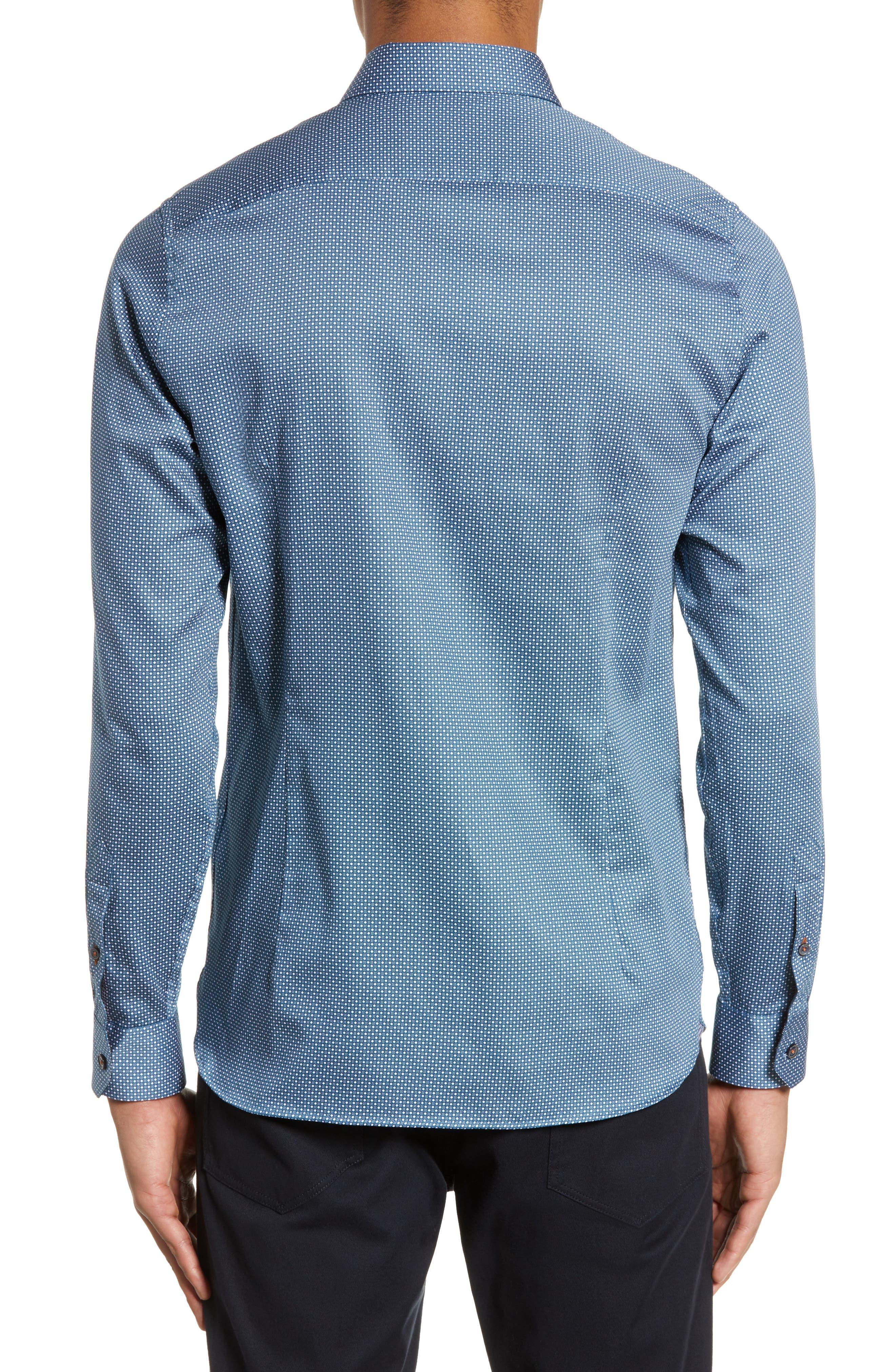,                             Subik Slim Fit Geo Print Sport Shirt,                             Alternate thumbnail 14, color,                             421