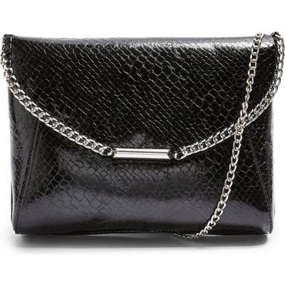 Topshop Court Convertible Faux Leather Clutch - Black