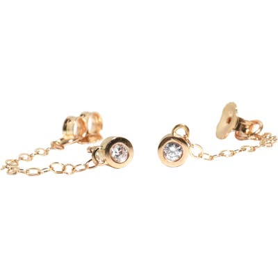 Melissa Joy Manning Chained Diamond Post Earrings