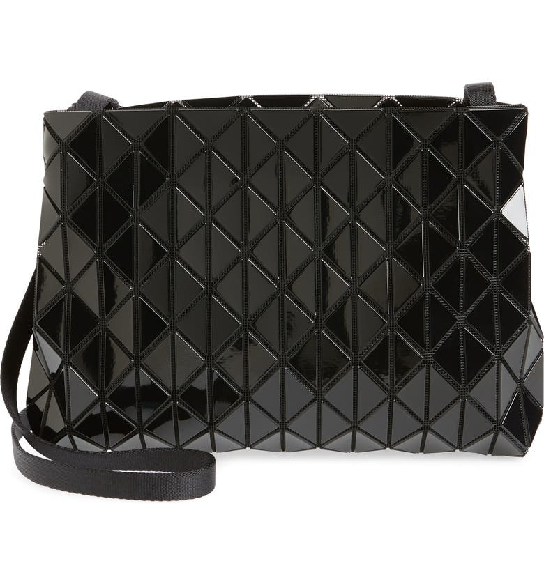BAO BAO ISSEY MIYAKE Row Gloss Shoulder Bag, Main, color, BLACK
