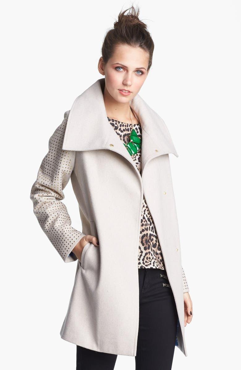 JOU JOU Studded Coat, Main, color, 020