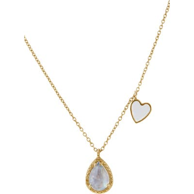 Adornia Moonstone Pendant Necklace