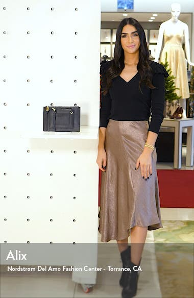 x Jill Jacobs Saffiano Leather Zip Pouch, sales video thumbnail