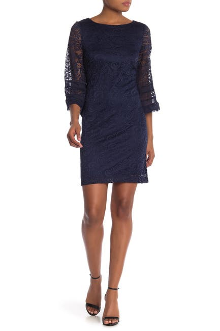 Image of Sandra Darren Sleeveless Lace Dress