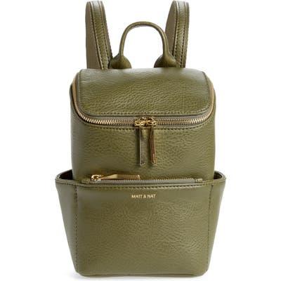 Matt & Nat Mini Brave Faux Leather Backpack - Green