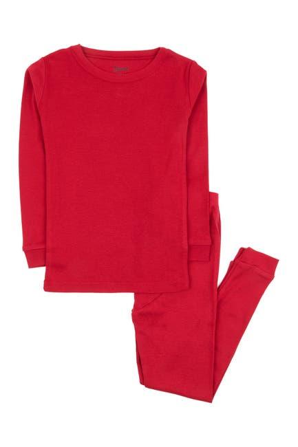 Image of Leveret Red 2-Piece Pajama Set