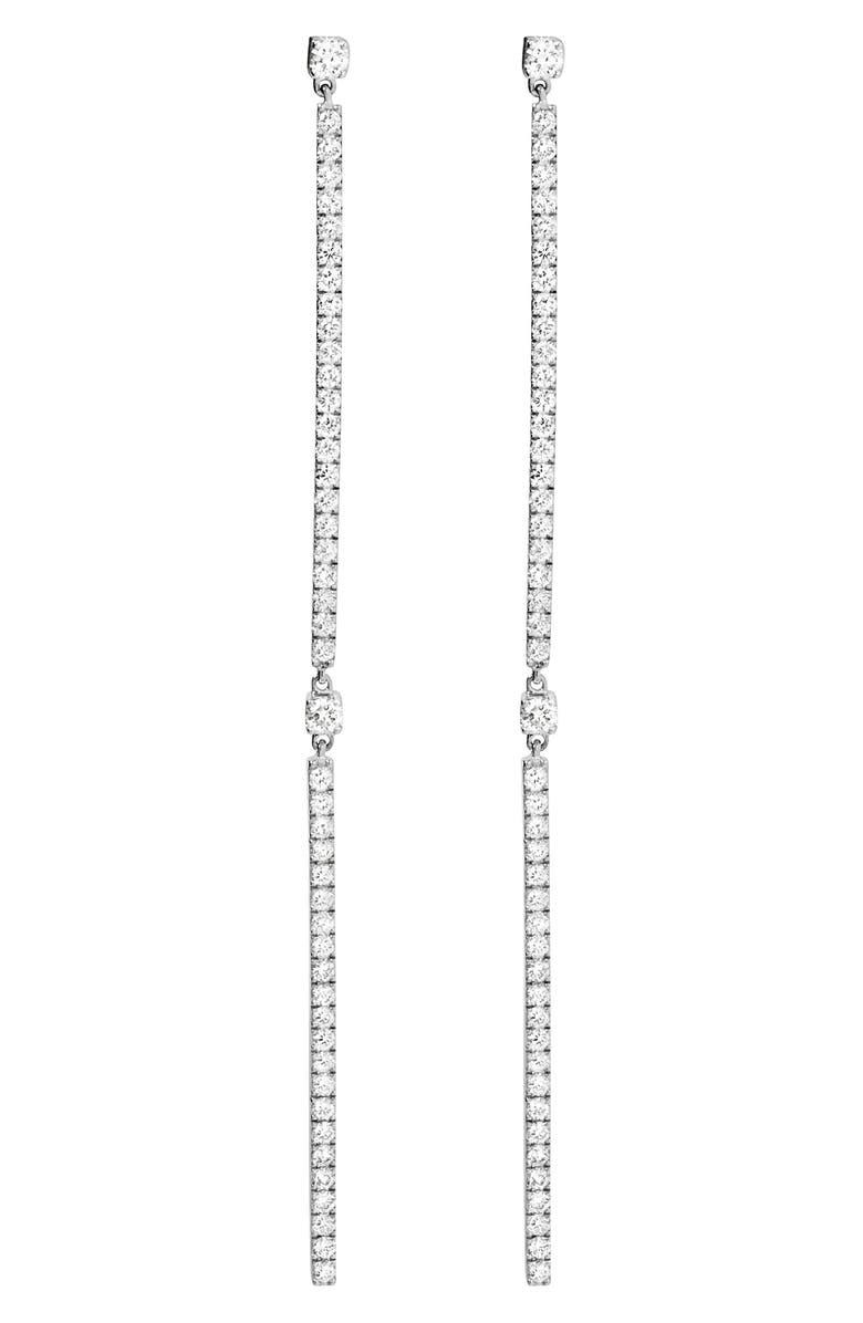 MESSIKA Gatsby Linear Diamond Earrings, Main, color, WHITE GOLD/ DIAMOND