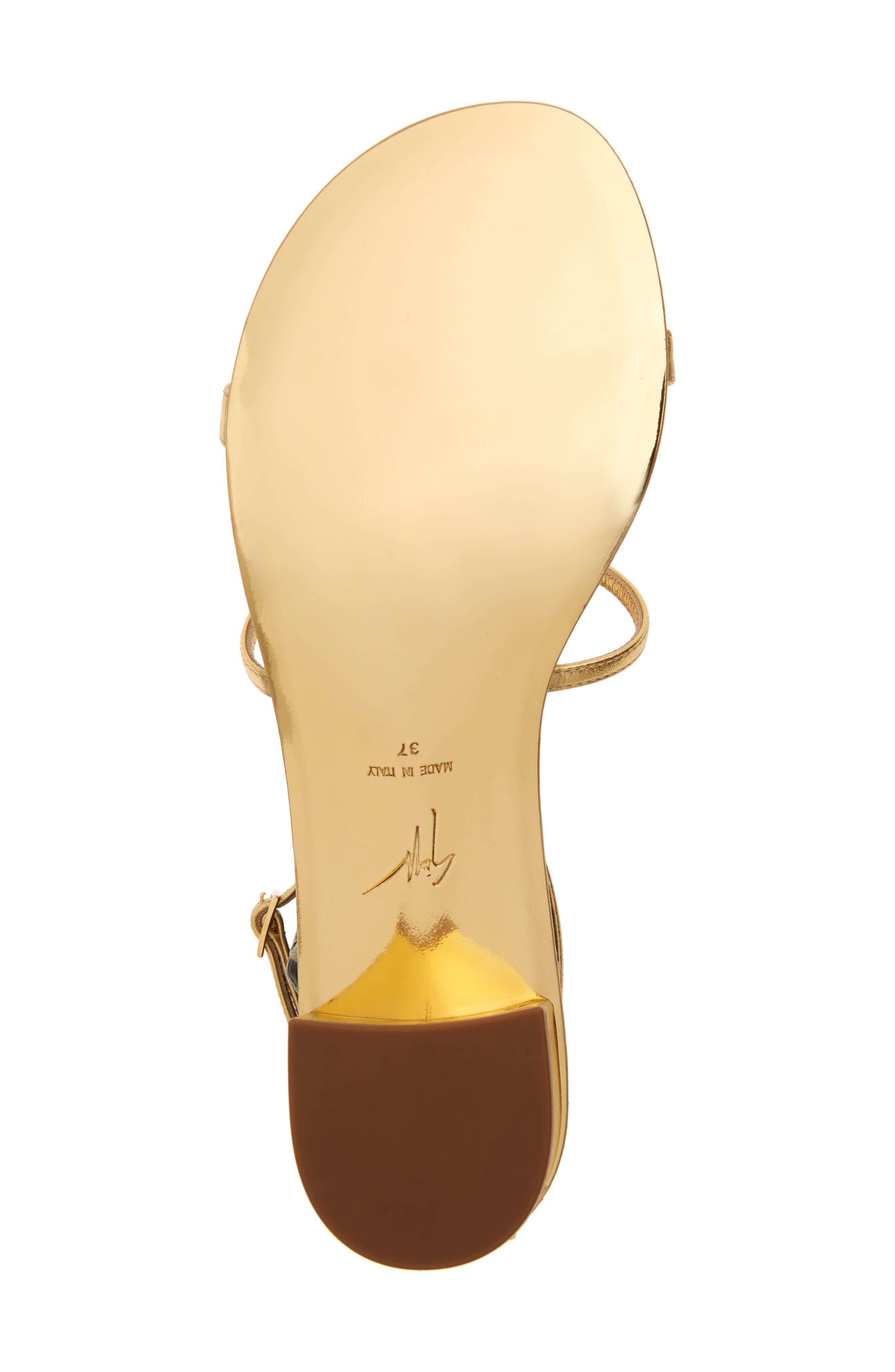 ,                             Crystal Embellished Metallic Sandal,                             Alternate thumbnail 6, color,                             GOLD