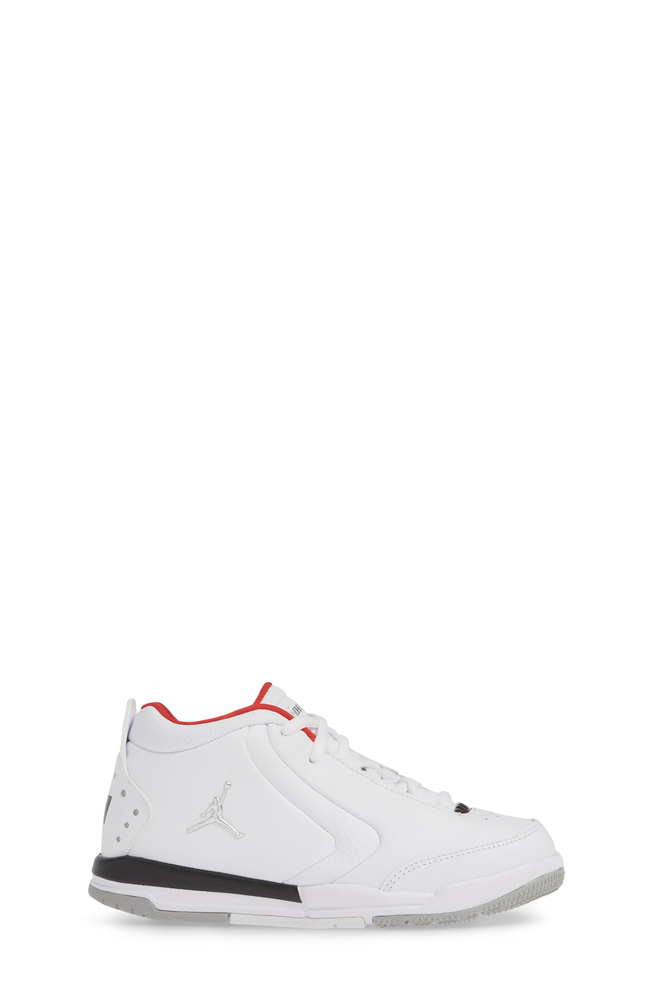 ,                             Big Fund Mid Top Basketball Sneaker,                             Alternate thumbnail 3, color,                             WHITE/ METALLIC SILVER-BLACK