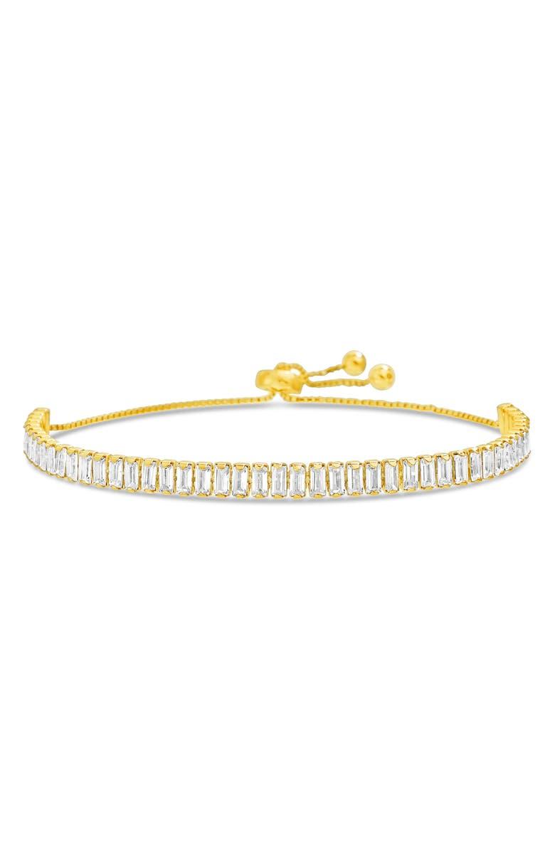 LESA MICHELE Baguette Stone Bracelet, Main, color, YELLOW GOLD