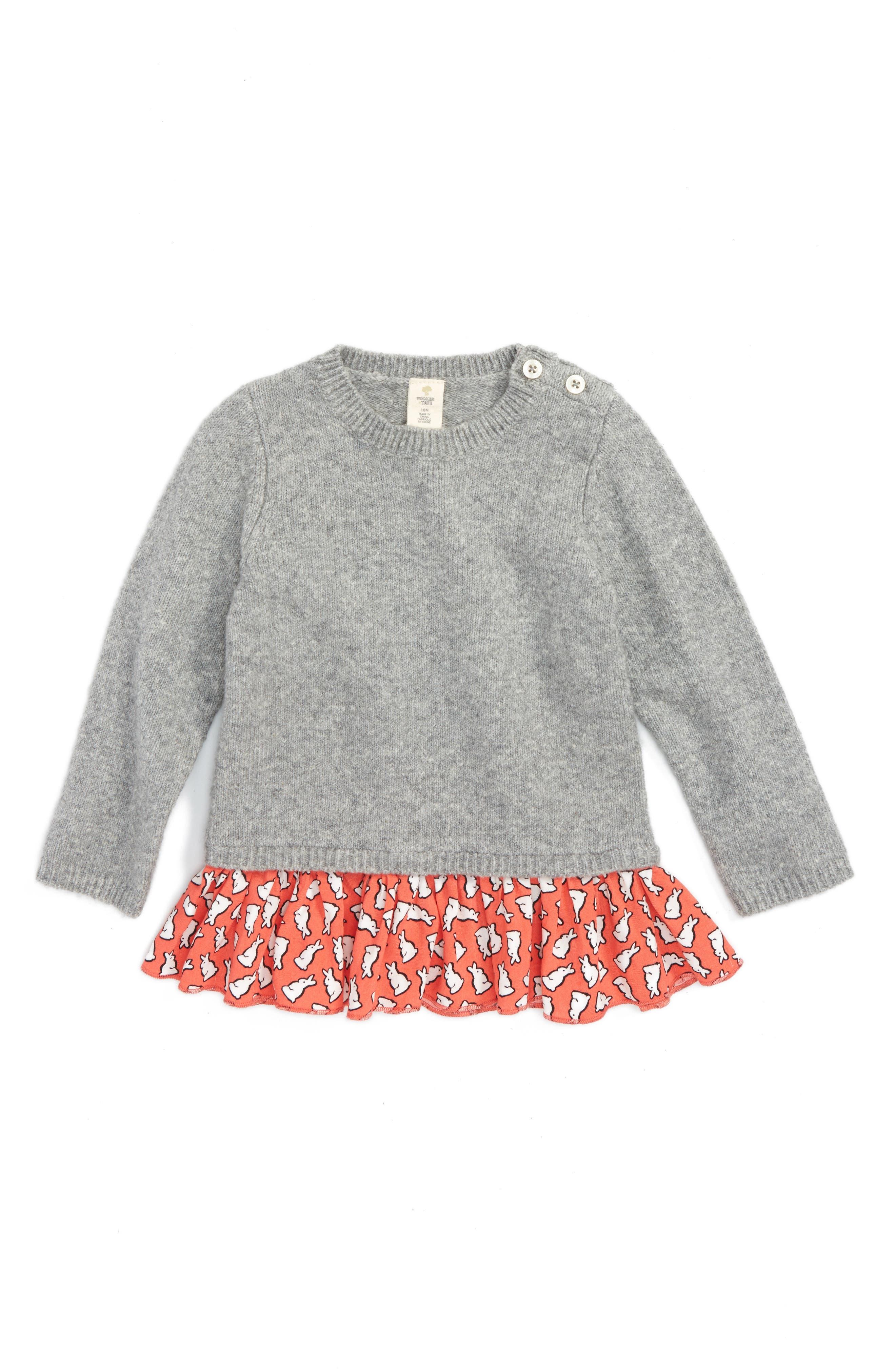 ,                             Ruffle Sweater,                             Main thumbnail 1, color,                             030