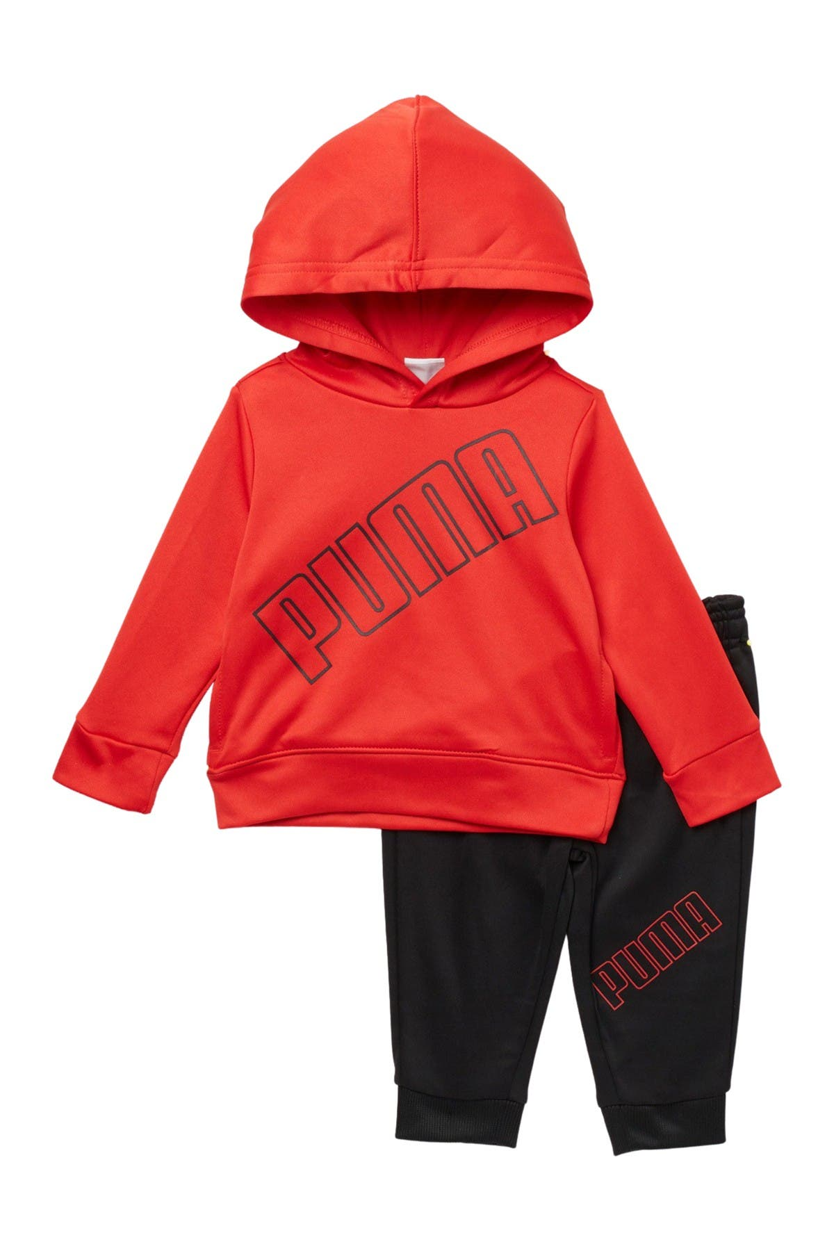 Image of PUMA Poly Fleece Pullover Hoodie & Leggings Set