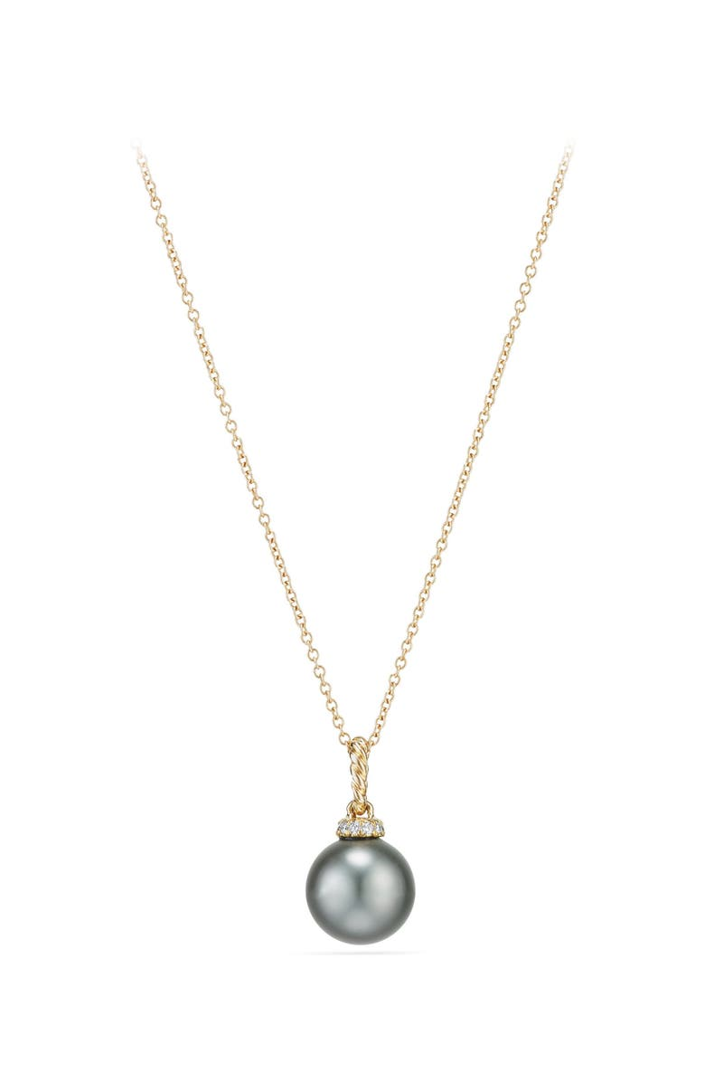 DAVID YURMAN Solari Pendant Necklace with Diamonds, Main, color, GOLD/ DIAMOND/ GREY PEARL