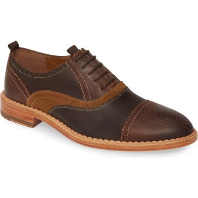 J & m 1850 Chambliss Cap Toe Oxford- Brown