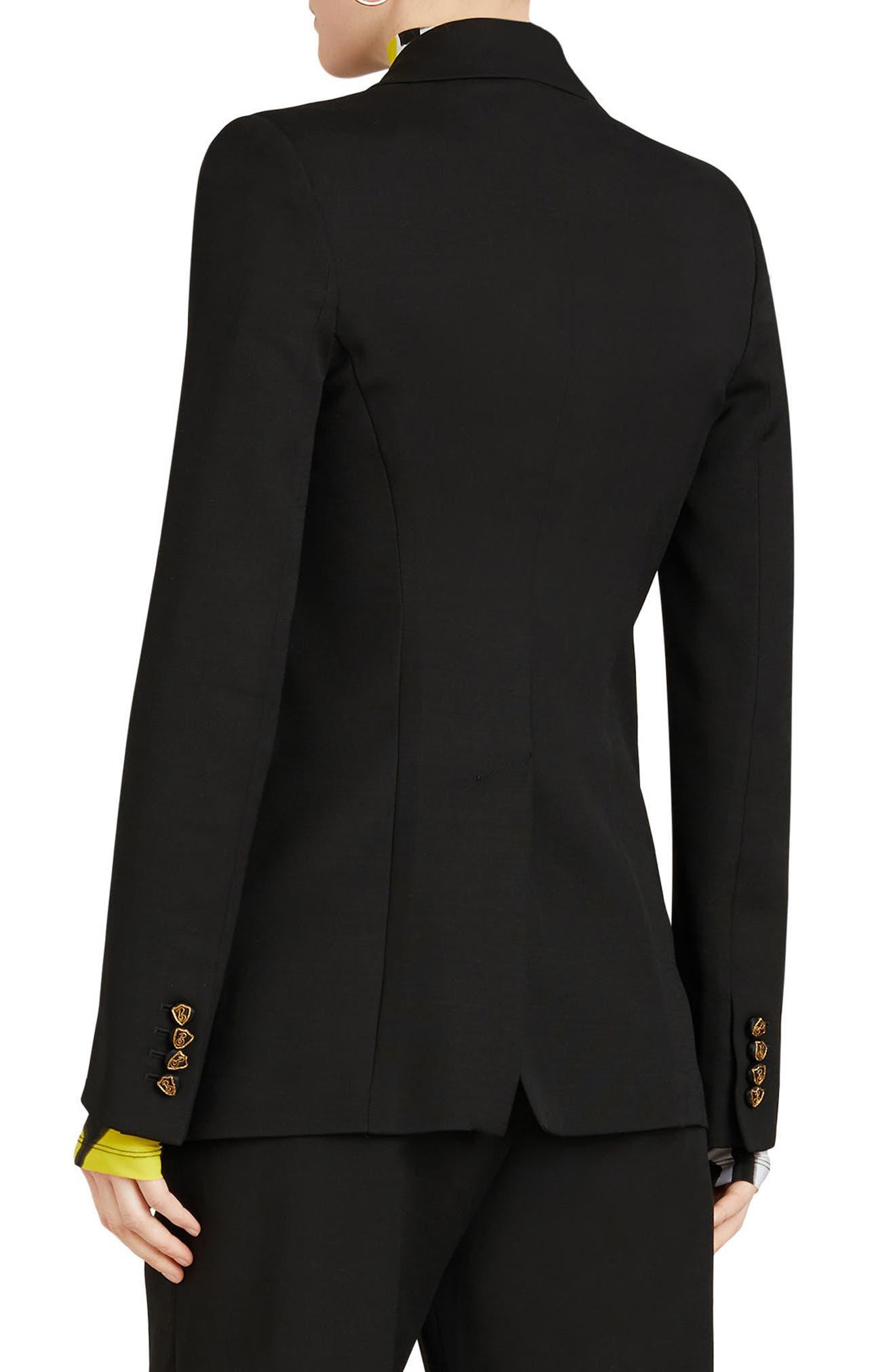 ,                             Patterdale Wool & Silk Jacket,                             Alternate thumbnail 2, color,                             BLACK