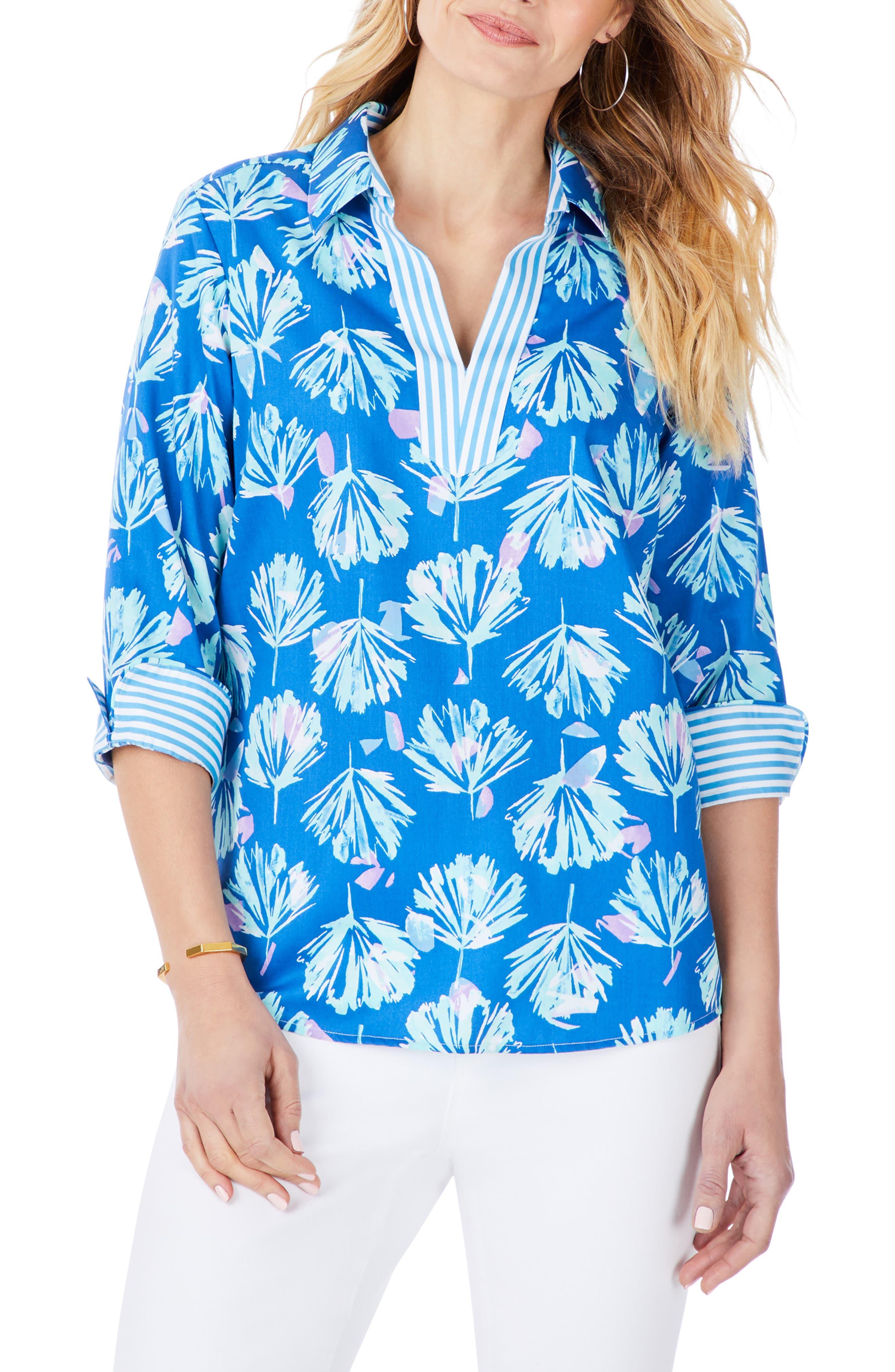 Cora Floral Non-Iron Shirt