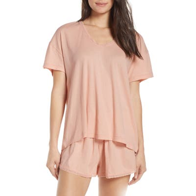 The Great. The Lace Pajama Tee, Pink