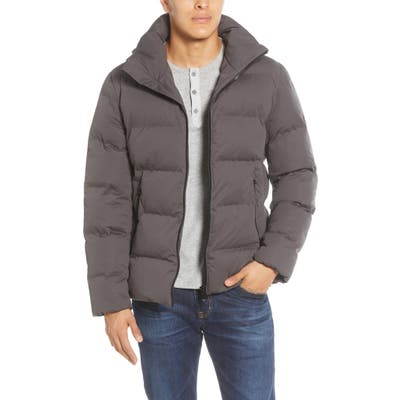 Save The Duck Water Resistant Hooded Puffer Jacket, Grey
