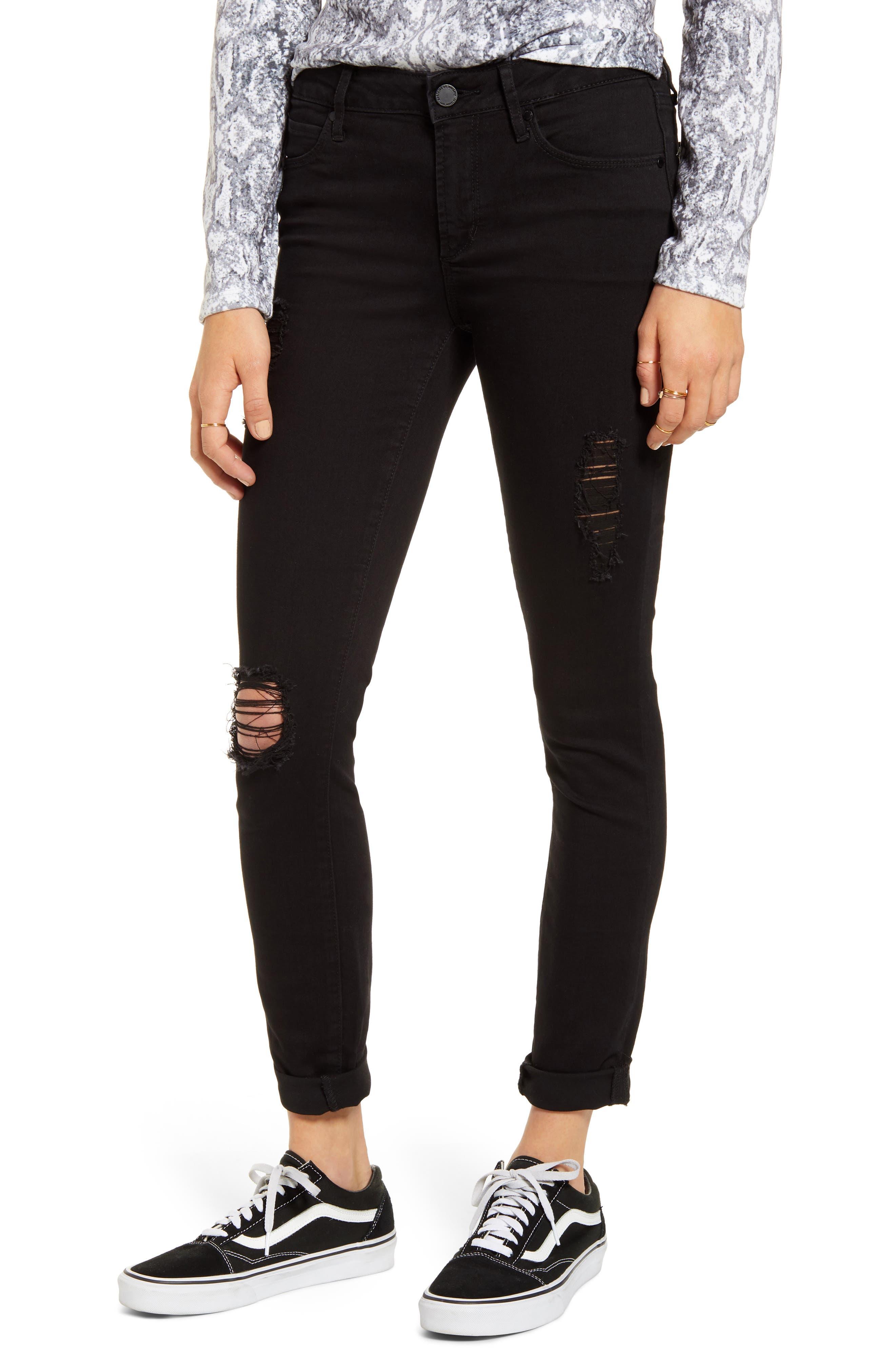 Articles of Society Karen Ripped Boyfriend Jeans (Decon Black)