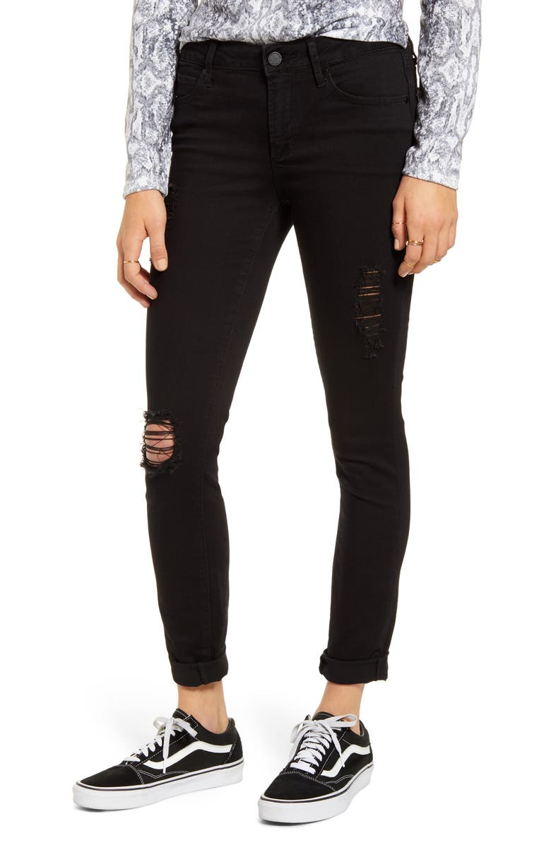 ARTICLES OF SOCIETY Karen Ripped Boyfriend Jeans, Main, color, 003
