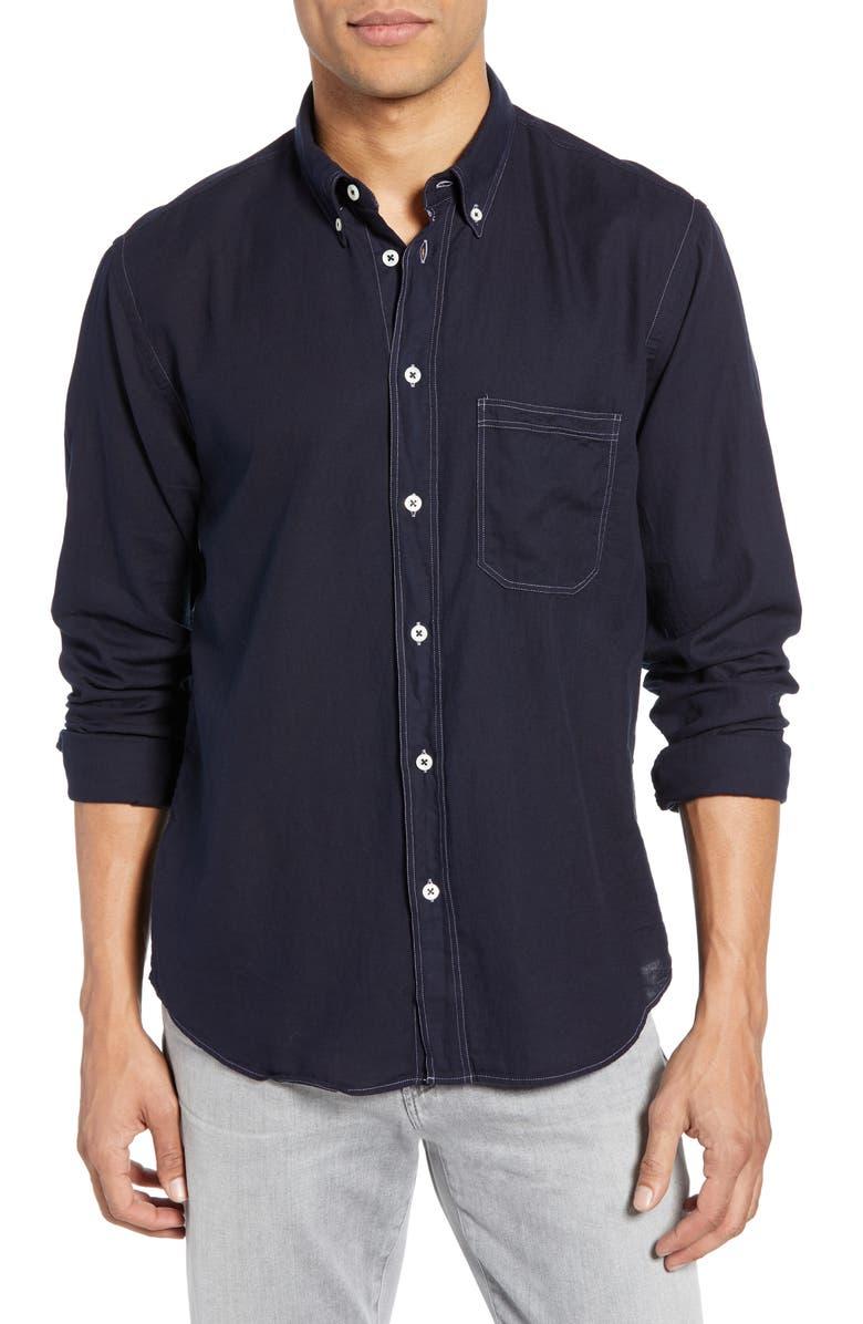 BILLY REID Tuscumbia Standard Fit Shirt, Main, color, DARK INDIGO