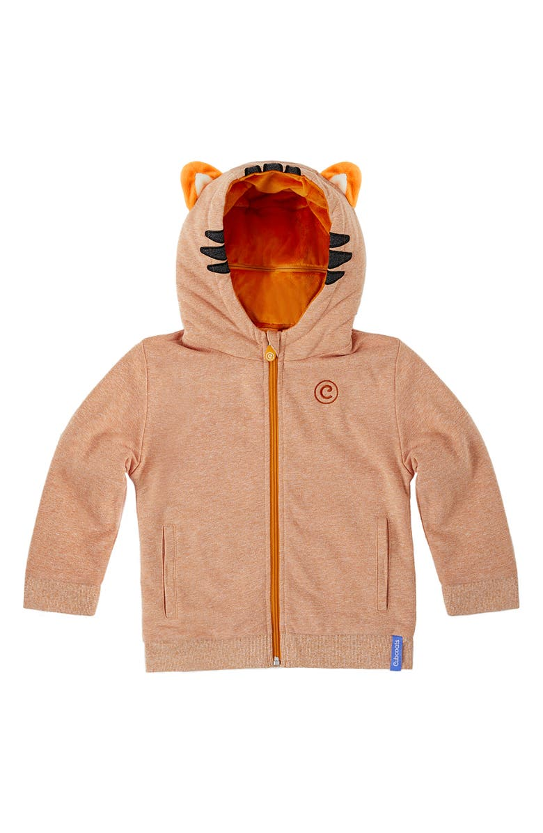 CUBCOATS Tomo 2-in-1 Stuffed Animal Hoodie, Main, color, OCHRE MARL MIX