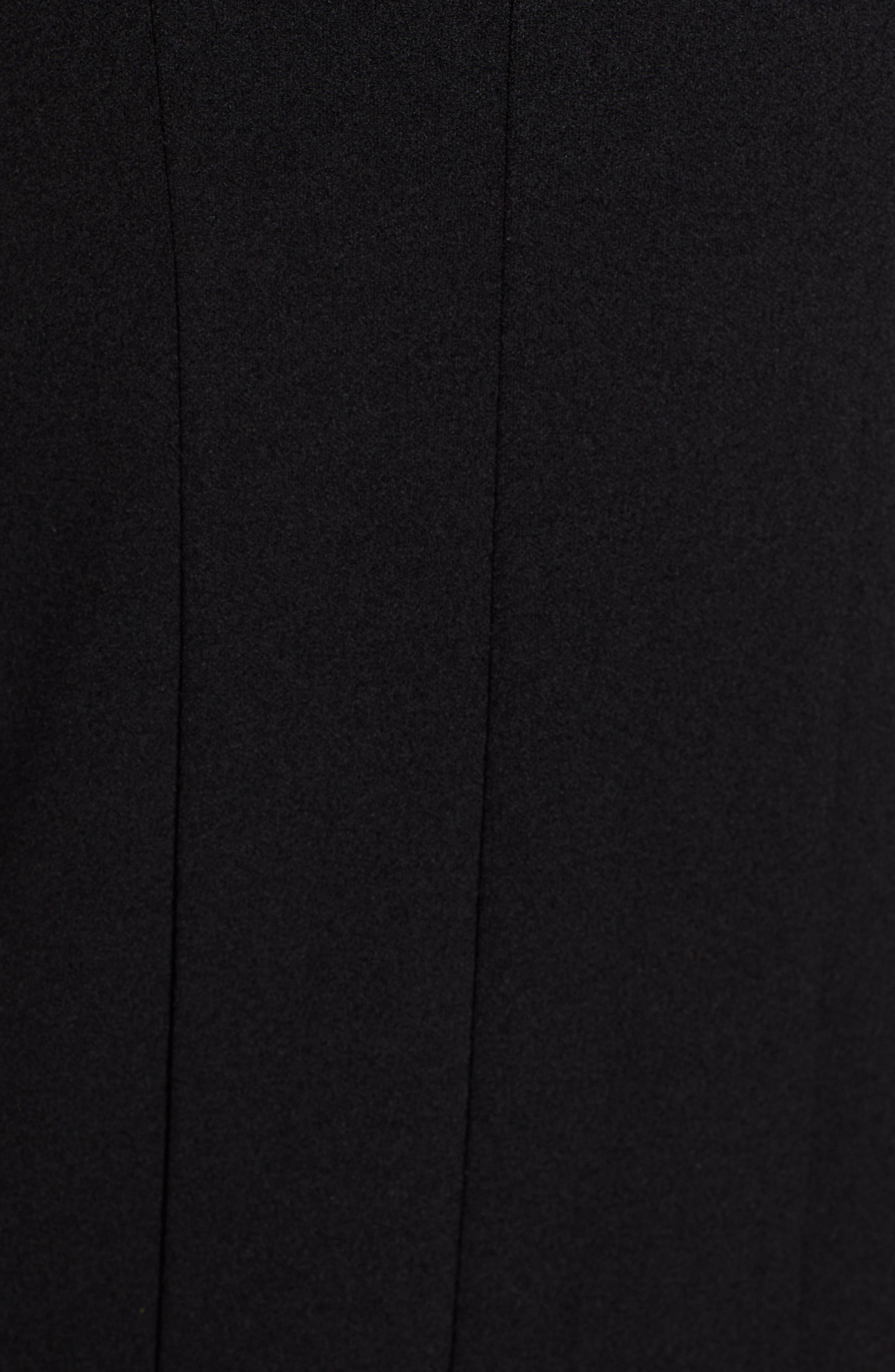 ,                             Seamed Body-Con Dress,                             Alternate thumbnail 6, color,                             BLACK