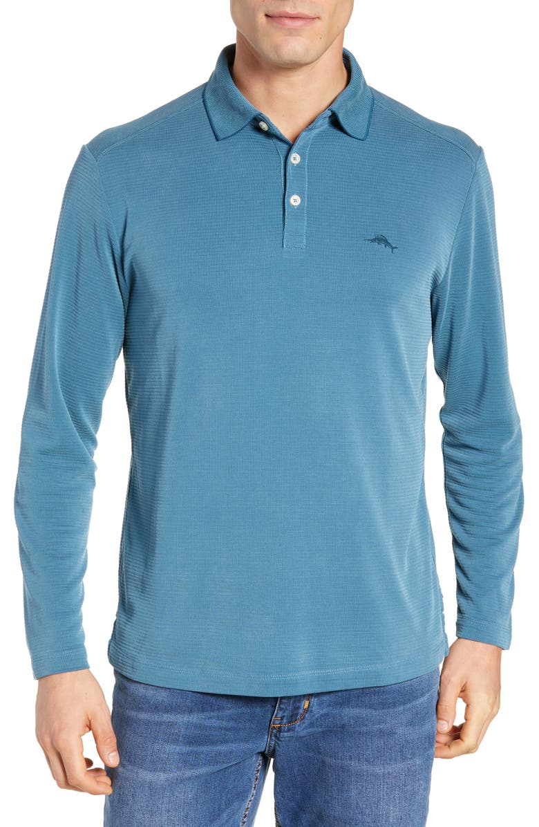 TOMMY BAHAMA Coastal Crest Classic Fit Polo, Main, color, SEAGROVE