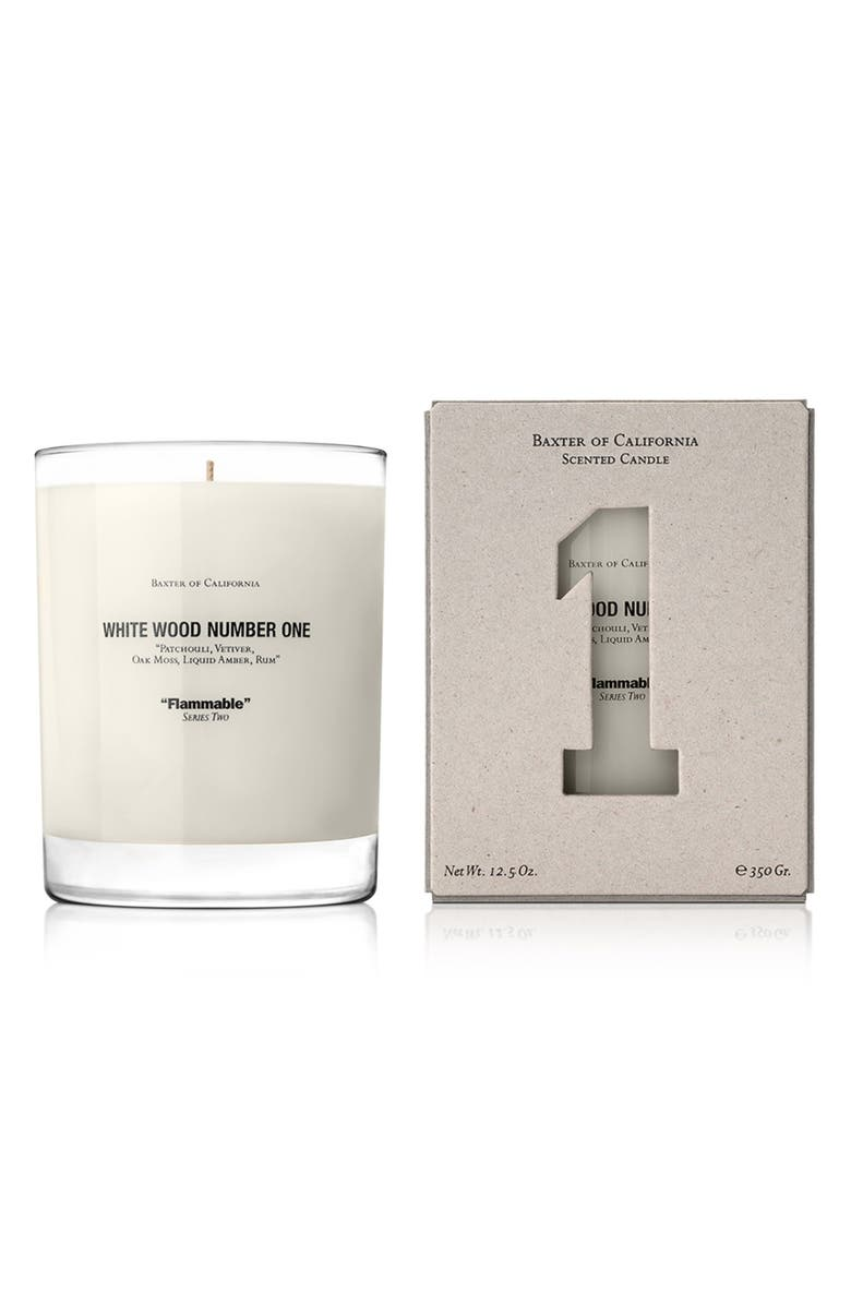 BAXTER OF CALIFORNIA White Wood Number One Flammable Scented Candle, Main, color, NO COLOR