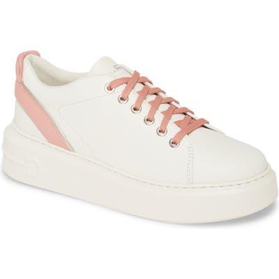 Salvatore Ferragamo Platform Sneaker - White