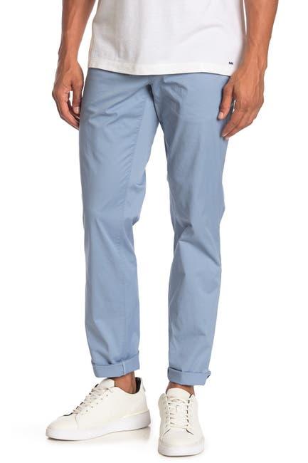 Image of Michael Kors Slim-Fit Washed Poplin Chino Pants