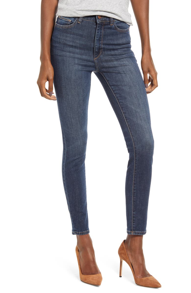 DL1961 Farrow High Waist Ankle Skinny Jeans, Main, color, GRAHAM