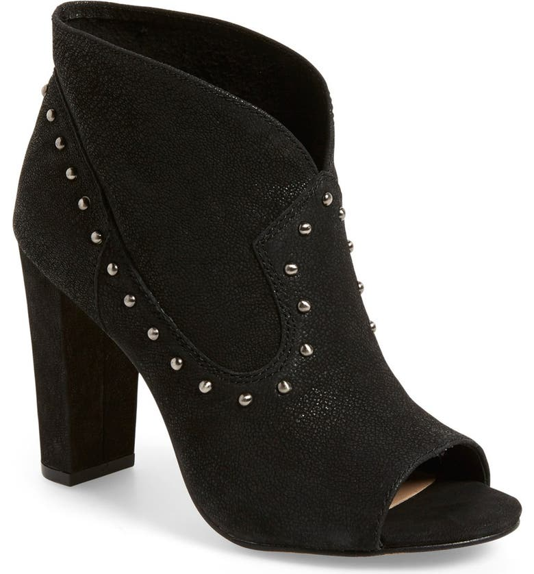 VINCE CAMUTO 'Corianne' Studded Open Toe Bootie, Main, color, 001