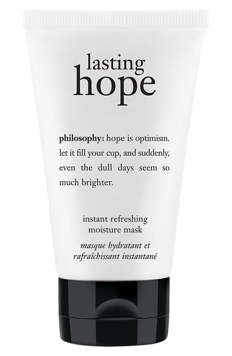 PHILOSOPHY 'lasting hope' instant refreshing moisture mask, Main, color, 000