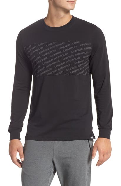 Under Armour Unstoppable Wordmark Charged Cotton T-Shirt In Black/ White