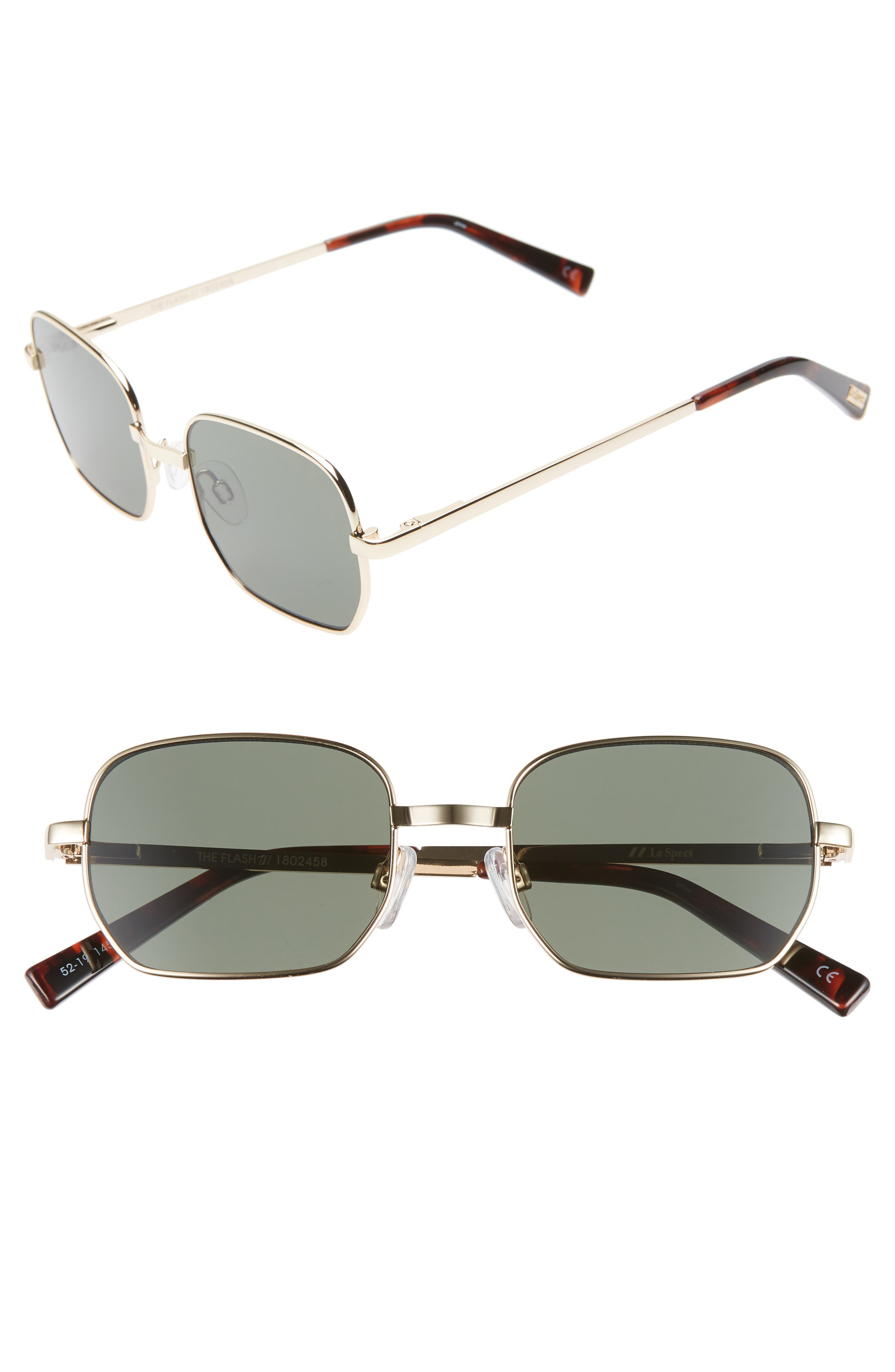 Le Specs The Flash 52Mm Round Sunglasses - Gold