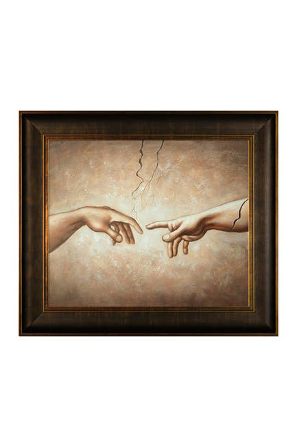 Image of Overstock Art Creation of Adam by Unknown Artists Framed Hand Painted Oil Reproduction