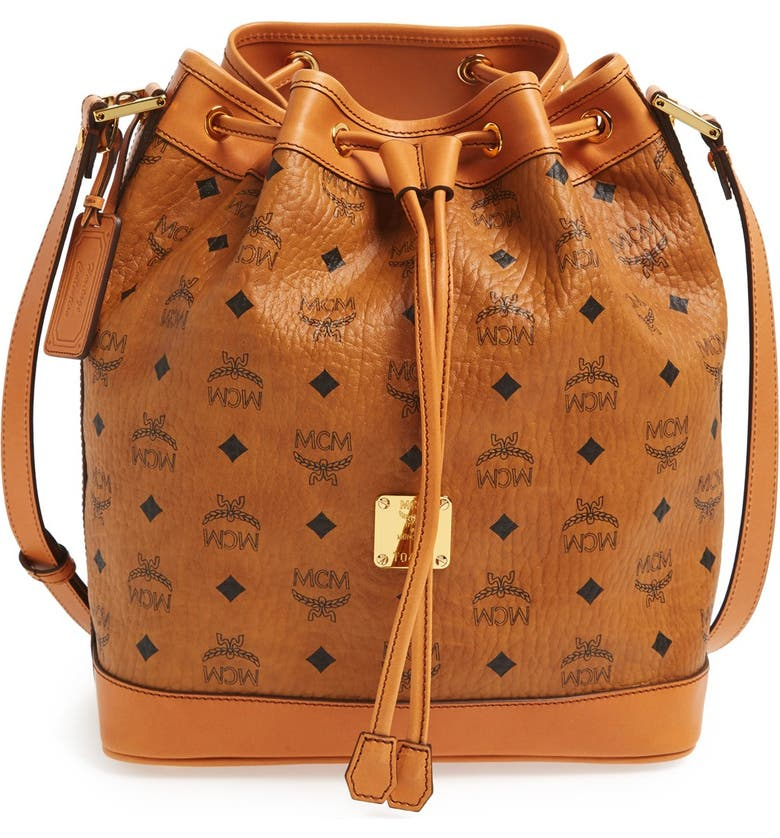MCM 'Small Heritage' Coated Canvas Drawstring Bag | Nordstrom