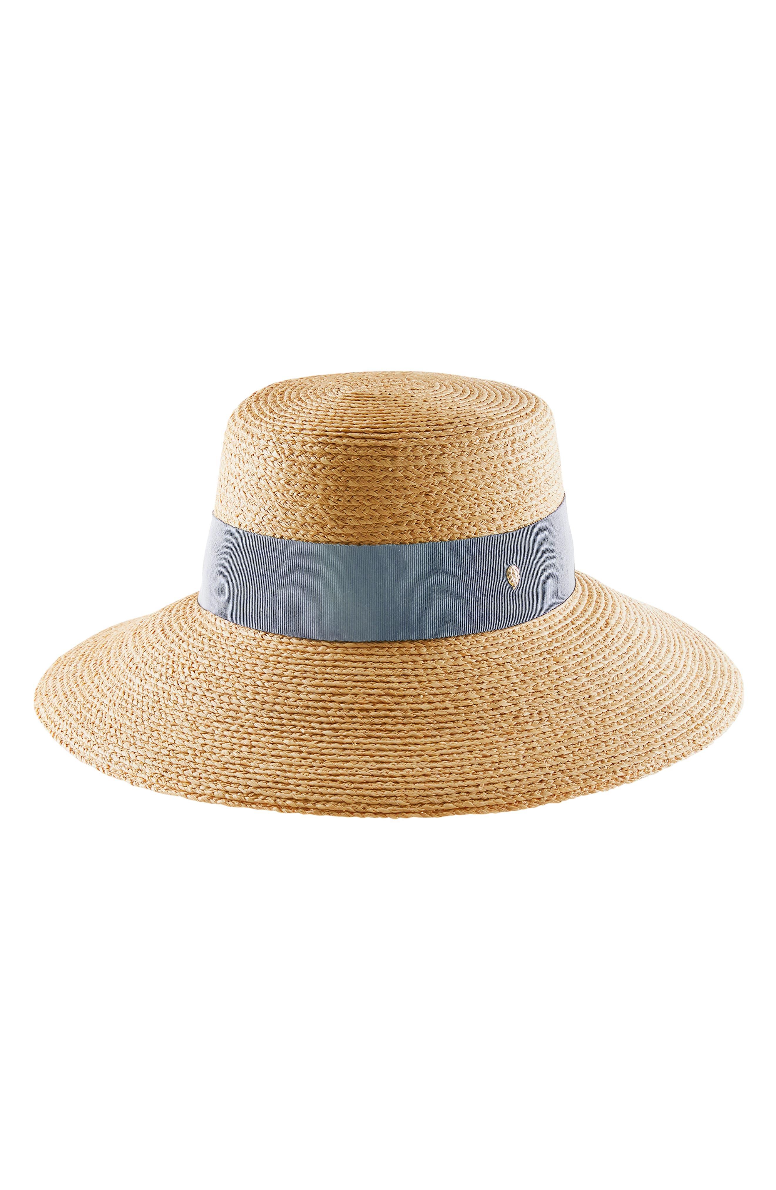 Makeda Angled Brim Raffia Hat