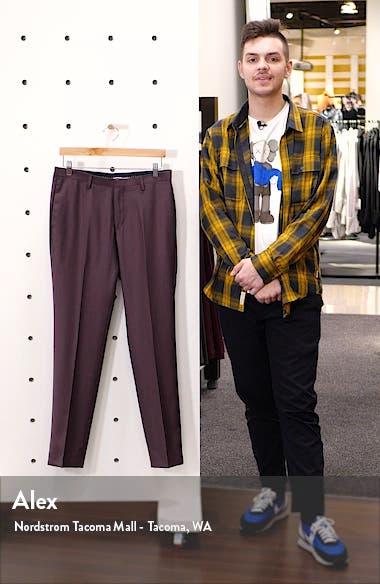 Todd Flat Front Solid Wool Dress Pants, sales video thumbnail