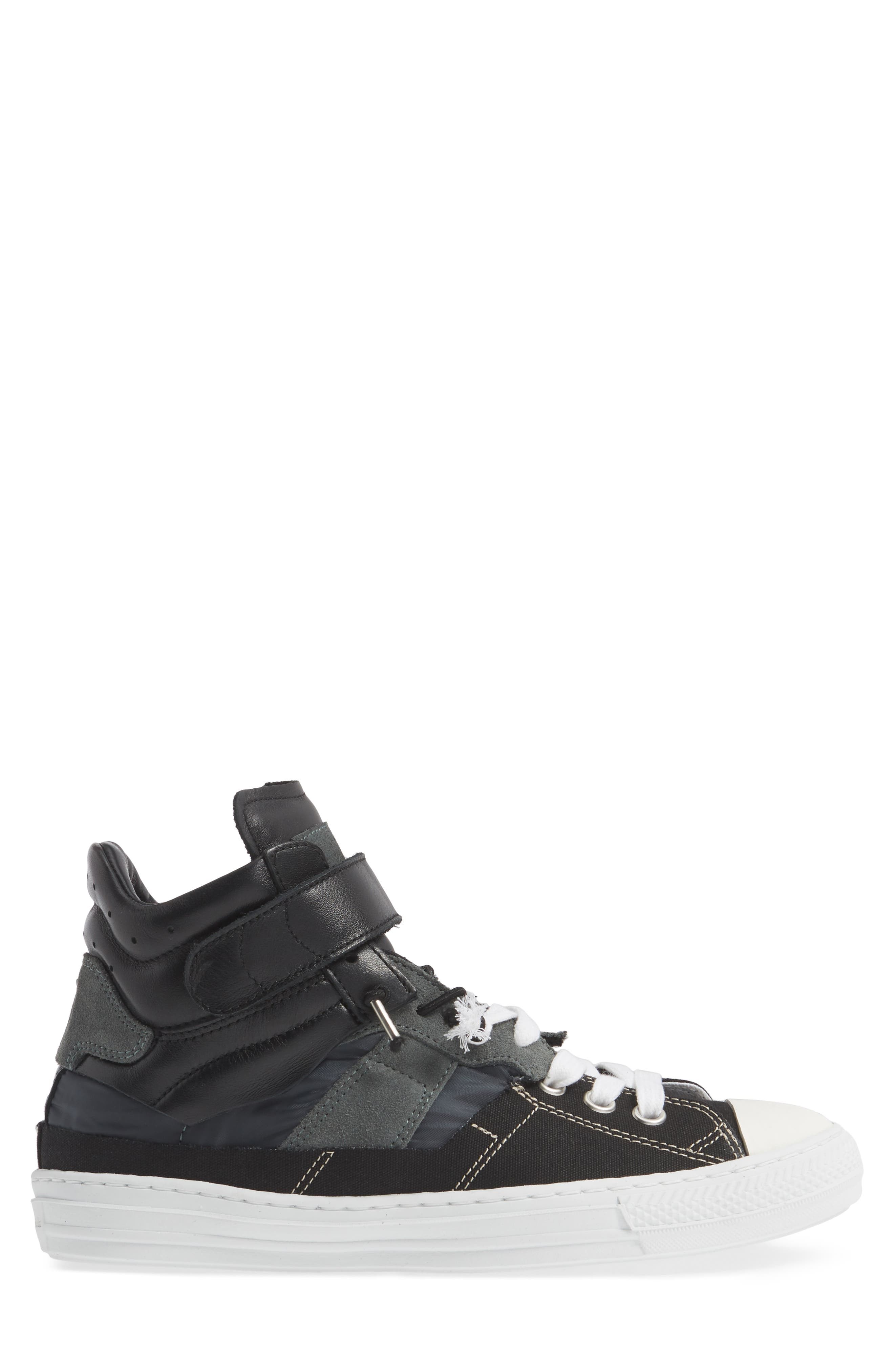 ,                             High Top Sneaker,                             Alternate thumbnail 3, color,                             001
